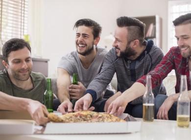 Tips for House Sharing - Men eating pizza