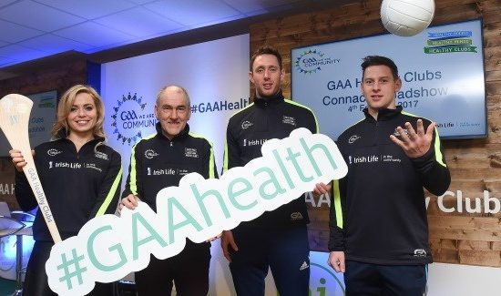 Anna Geary, Mickey Harte, Michael Fennelly and Philly McMahon are backing the GAA's Healthy Clubs Project, which promotes healthier lifestyles.